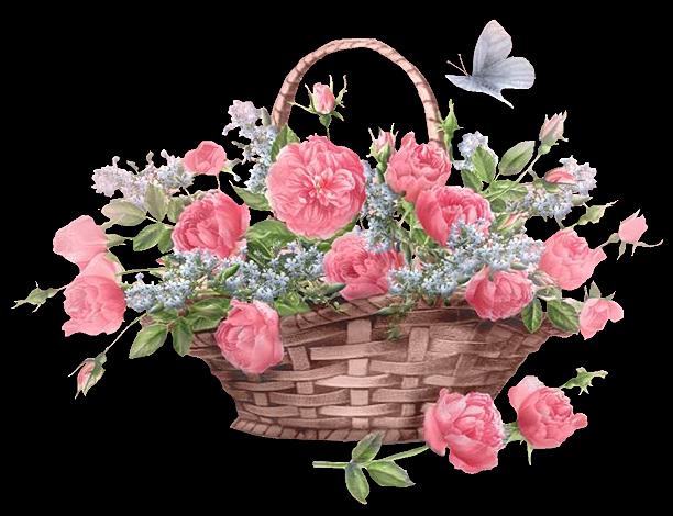 Panier De Fleurs Fraîches : Panier de fleur